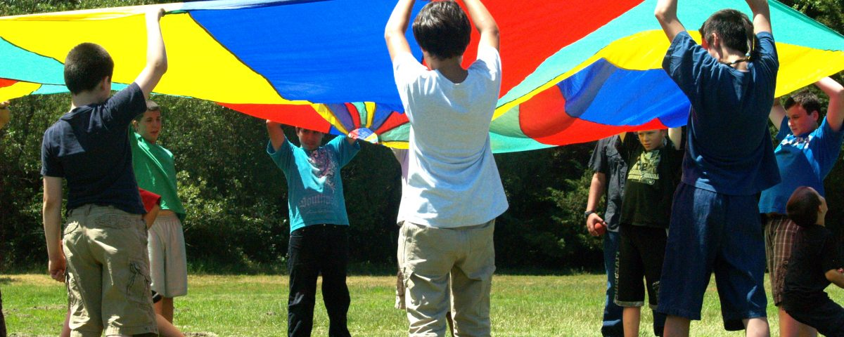 Adoption support for boys with circle flag